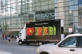 Mobile billboard for new product