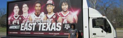 Texas A&M mobile billboard