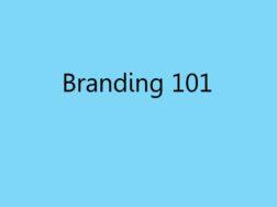 Branding 101