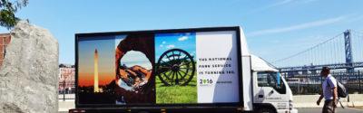National Park Service mobile billboard