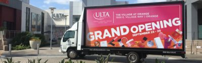 Ulta mobile billboard