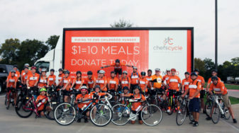 Chefs Cycle mobile billboard