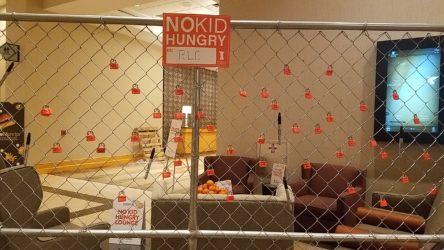 No Kid Hungry lock and key