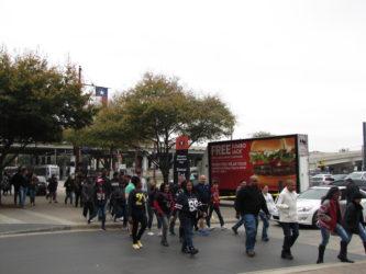 mobile billboard at Super Bowl