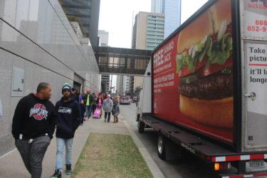 Mobile billboard at Super Bowl - do it outdoors media