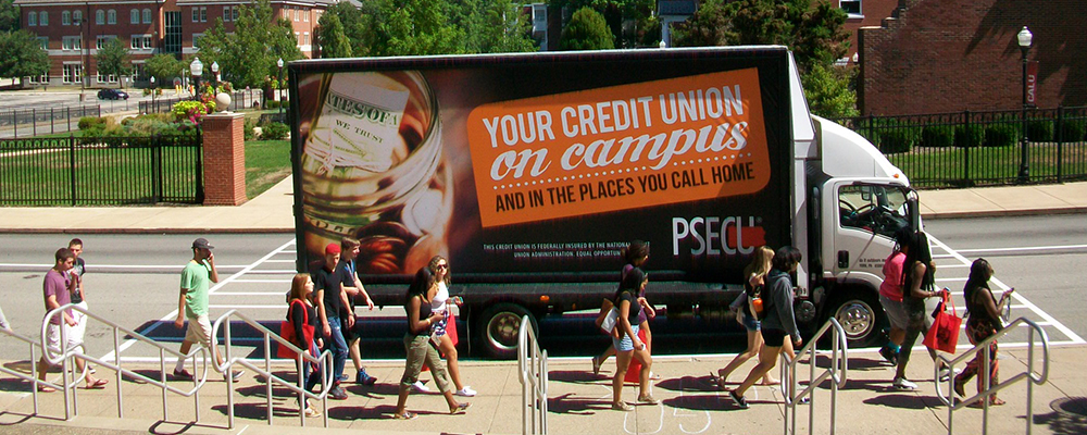 mobile billboard campus advertising