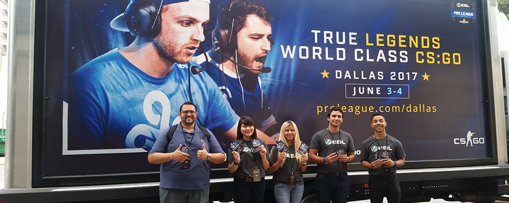 ESL Gaming Mobile Billboard and Brand Ambassadors
