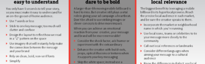 mobile billboard creative design tips