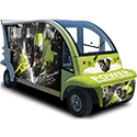 branded electric shuttles