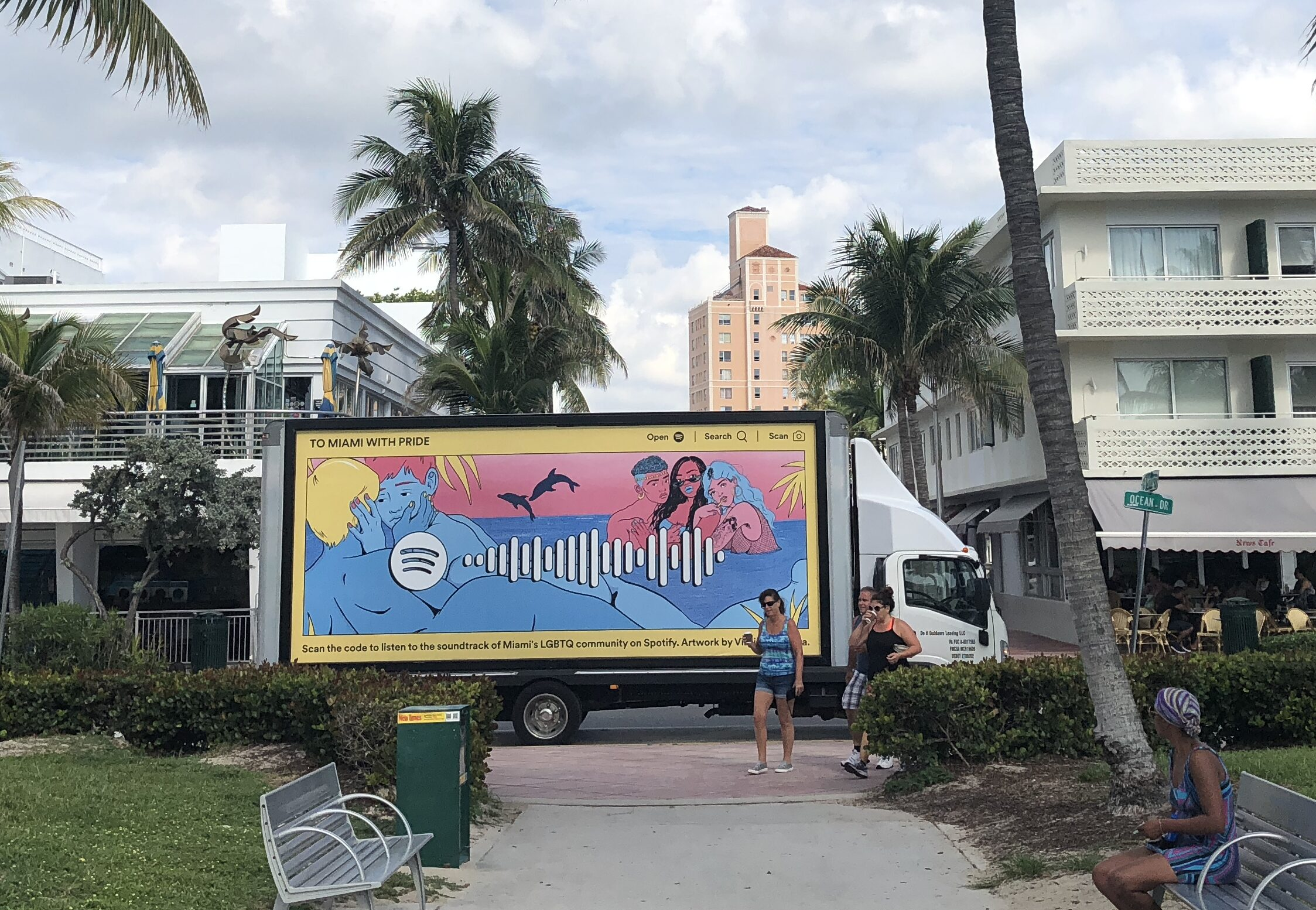 Spotify mobile billboard