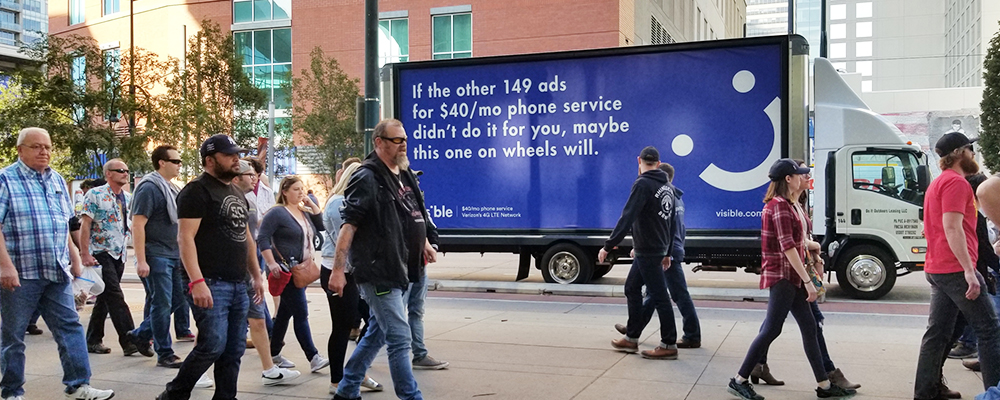 Visible OOH campaign